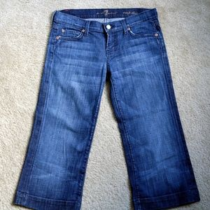 7 for All Mankind Crop Dojo Capris Size 26